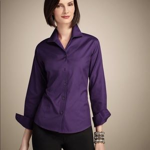Chico's EFFORTLESS COTTON LENORA WILD GRAPE TOP 3X